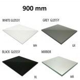 Szkło do tylnej ścianki 90 cm MCJ FLAT/BEND GW 900/WH glossy/mirror