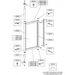 Szyba do parawanu PS-W/ASP, PS-S/ASP 70 cm, polistyren Sanplast ASPIRA 660-S0629