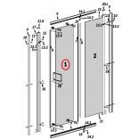 Szyba drzwi przejrzysta 50x188 do kabiny PREMIUM PLUS DWJ 100 cm Radaway 012-806029601