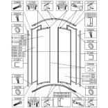 Taśma magnetyczna 185 cm do drzwi kabin prysznicowych Sanplast CLASSIC 660-C0038