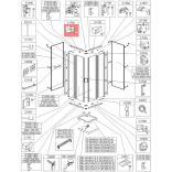 Trzymacz szyby Sanplast CLII 660-C1786 biew