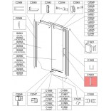Uchwyt kpl (z mosiądzu chrom) Sanplast ALTII 660-C1903