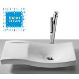 Umywalka nablatowa 66x38 bez otworu pod armaturę Roca URBI 2 A32722600M Maxi Clean