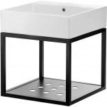 Umywalka stawiana na blacie z konsolą łazienkową wiszącą 50x50 Deante TEMISTO CDTW6U5S