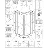 Uszczelka dolna drzwi, lewa do kabiny KP2DJ/TX5 Sanplast TX5 660-C1090