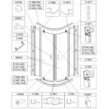 Uszczelka dolna drzwi, prawa do kabiny KP2DJ/TX5 Sanplast TX5 660-C1091