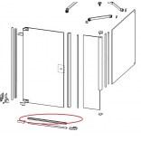 Uszczelka dolna drzwiowa 100 cm do STUDIOPARIS PT0029.C91.322.708 Huppe 25063