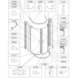Uszczelka magnetyczna drzwi (kpl. 2 szt) do kabiny prysznicowej Sanplast TX5 660-C1967