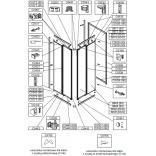 Uszczelka montażowa do kabiny ZDPlus, polistyren Sanplast ZODIAK PLUS 660-C0755