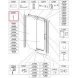Uszczelka montażowa pionowa do kabiny Sanplast  FREE II 660-C2059