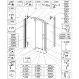 Uszczelka okapowa pozioma drzwiowa do kabiny Sanplast ALTUS 660-C1962