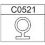 Uszczelka pionowa 1725 mm Sanplast CLASSIC 660-C0521