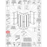 Uszczelka pionowa Sanplast CLII 660-C2001