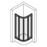 Uszczelka pionowa do Classics Elegance 503100.087.321.000.005.90.88 Huppe 24988