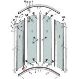 Uszczelka pionowa ściany do kabiny PREMIUM A 1700 Radaway 007-105080600