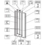 Uszczelka zamykająca duża do drzwi przesuwnych DT3/EKOPLUS Sanplast 660-C0474