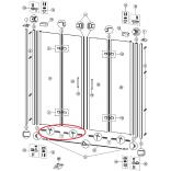 Uszczelki dolne drzwiowe (2 szt.) do kabiny DESIGN ELEGANCE Huppe 059727.034