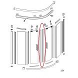 Uszczelki magnetyczne do kabiny półokrągłej Design 90 cm H190 cm drzwi skrzydłowe Huppe 060556