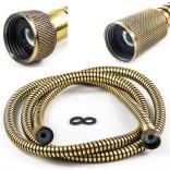 Wąż natryskowy 1700 mm Tres 91.34.830.05.1 stary mosiądz