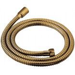 Wąż prysznicowy z podwójnym oplotem 150 cm Omnires 029GLB złoty szczotkowany