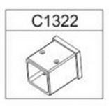 Wspornik przyścienny do kabiny prostokątnej Sanplast SPACE LINE 660-C1322