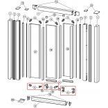 Zaczepy dolne do drzwi suwanych 3-częściowych CLASSICS ELEGANCE (6 sztuk) Huppe 024021
