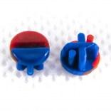 Zaślepka niebiesko czerwona śruby montażowej uchwyt Kludi OBJEKTA 93092100-00