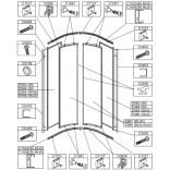 Zaślepka profilu do kabiny KP4-r/EKO Sanplast EKO PLUS 660-C0930