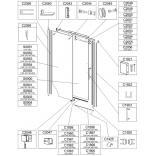Zaślepka profilu kabiny Sanplast D2/ALTIIa 660-C2060
