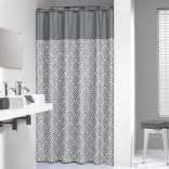 Zasłona prysznicowa tekstylna 180x200 cm Sealskin ANGOLI 233561312 szara / srebrna