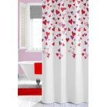 Zasłona prysznicowa tekstylna 180x200 cm Sealskin CUORI 210891350 wielokolorowa
