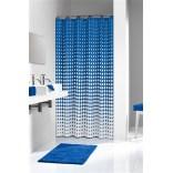 Zasłona prysznicowa tekstylna 180x200 cm Sealskin SPECKLES 233601319 niebieska / biała