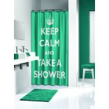 Zasłona prysznicowa tekstylna 180x200 cm Sealskin TESTO 233531330 turkusowa
