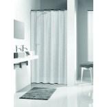 Zasłona prysznicowa tekstylna PEVA 180x200 cm Sealskin PERLE 210881300 transparentna
