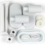 Zawiasy plastikowe długie do deski wolnoopadającej 010/AW Sanit-Plast KASKADA 020/B