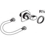 Zawór odcinający 1/2 + wężyk do stelaża PRO Roca DUPLO AV0027400R