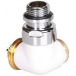 Zawór trójosiowy termostatyczny prawy Terma TGZTBI003 biały