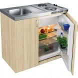Zestaw: Zlew kuchenny 1-komorowy + szafka 100 cm + chłodziarka Franke KITCHENETTE 104.0058.330