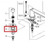 Zestaw montażowy do baterii wannowej stojacej PURE&STYLE Kludi 7351700-00
