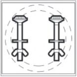 Zestaw montażowy zbiornik-miska Roca MERIDIAN AV0015400R