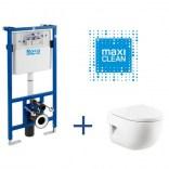 Zestaw podtynkowy DUPLO z miską WC wiszącą Meridian Compacto Roca DUPLO A89009000C