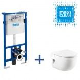 Zestaw stelaż podtynkowy Pro + miska WC wisząca Roca MERIDIAN A8900900MM Maxi Clean