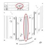 Zestaw uszczelek magnetycznych 2003 1/4 do 536080.055.321 2 sztuki Huppe 042909.034