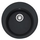 Zlewozmywak 1-komorowy okrągły 51 cm ROG 610-41 Franke PAMIRA 114.0286.753 onyx