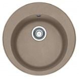 Zlewozmywak 1-komorowy okrągły 51 cm bez ociekacza ROG 610-41 Franke PAMIRA 114.0331.002 cappucino