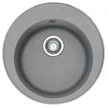 Zlewozmywak 1-komorowy okrągły 51 cm bez ociekacza ROG 610-41 Franke PAMIRA 114.0331.004 kamienny szary