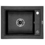 Zlewozmywak granitowy 1-komorowy bez ociekacza 54x34x18 cm Deante COUNTRY ZQU 211A grafitowy