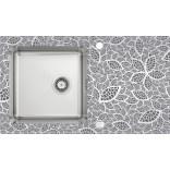 Zlewozmywak stalowo-szklany z grafiką Deante PALLAS ZSP 0N2C