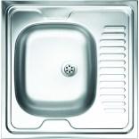 Zlewozmywak stalowy 1-komorowy 60 cm z ociekaczem Deante TANGO ZE6 0140 satynowy