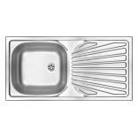Zlewozmywak stalowy 1-komorowy z ociekaczem 860x435 Deante TECHNO ZMU 011B satyna